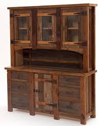 rustic hutch dining room: barnwood hutch heritage  doors  drawers