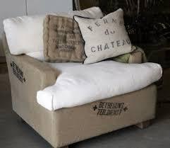this burlap furniture