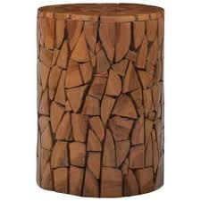 Mosaic <b>Stool Brown Solid Teak</b> Wood | eBay in 2020 | Teak wood ...