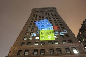 glow sticks prove the math theorem behind the famous flatiron the pythagorean theorem projected onto the flatiron building