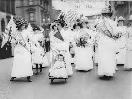 herstory the women behind the th amendment com feminist suffragist parade 1912 photo
