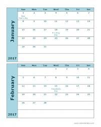 2017 calendar template 2 months per page printable templates 2017 calendar template 2 months per page printable templates example