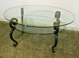 table coffee oval glass amazing glass table top