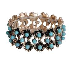 New Vintage Blue Stone Bracelets for Women Chain <b>Boho Style</b> ...