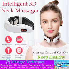<b>Intelligent 3D</b> Electric Pulse <b>Neck</b> Massager <b>Cervical</b> Vertebra ...
