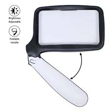 <b>Rectangular Handheld</b> Magnifying Glass, Magnifier with Light ...