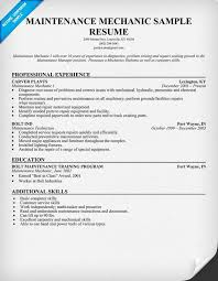 examples of mechanic resume job application sample galery examples of mechanic resume auto mechanic resume sample monster maintenance mechanic resume examples pictures