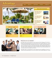 advantage website psd template preview