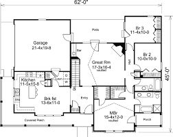 House Plan at FamilyHomePlans comBungalow Country Craftsman Ranch House Plan Level One