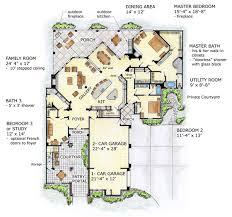 House Plan at FamilyHomePlans comFlorida Mediterranean House Plan Level One