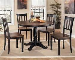 kitchen pedestal dining table set: owingsville round pedestal dining table and chairs