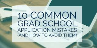 common grad school application mistakes and how to avoid them