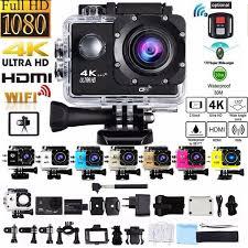2019 Hot Sale <b>4K</b> Outdoor <b>Sports Action</b> Camera 1080P <b>WIFI</b> 30m ...