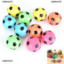 <b>10 Pcs/set Bouncing Football</b> Ball Rubber Elastic Jumping Soccer ...