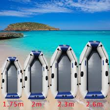 <b>175 260cm PVC Inflatable Boat</b> Wear resistant Foldable Air Rowing ...