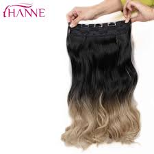 HANNE <b>U</b> Part 7 Clips In Long Straight Hair Synthetic Women Wig ...
