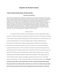 sample english essay compucenterco