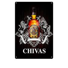 Chivas Regal Plaque Beer Vintage <b>Metal Tin Sign Wall</b> Stickers <b>Bar</b> ...