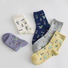 <b>1Pair Fashion Women Plant</b> Cactus Pattern Cacti Socks Plant Ball ...