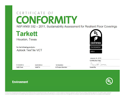 certifications nsf gold vct