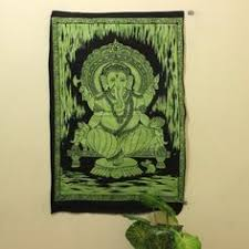 Blue Ganesha <b>Trippy</b> poster <b>hippie Tapestry</b> Wall hanging ...