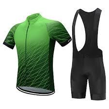 <b>FUALRNY</b>® Men's Short Sleeve <b>Cycling Jersey</b> with <b>Bib Shorts</b> ...