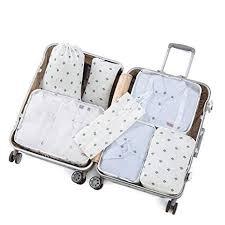 Luggage Organizer Set <b>7PCS Packing</b> Cubes Value Set for Travel ...