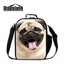 <b>Dispalang Pug Dog Lunch</b> Bag For Kids Samll Crossbody Insulated ...
