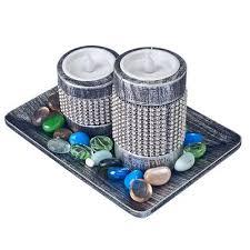 <b>Набор свечей</b> декоративных 2шт, <b>LED</b>, 17,8х13х12,5см, серебро ...