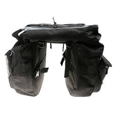 <b>43L</b> Touring <b>Bike</b> Black <b>Rear Pack</b> One-piece Double <b>Pannier</b> ...