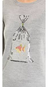 Markus Lupfer Prize Fish Sequin Grace Sweater | Beaded ...