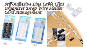 Self-Adhesive Line <b>Cable Clips Organizer</b> Drop <b>Wire Holder</b> Cord ...