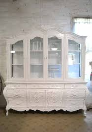 set cabinet full mini summer: painted cottage chic shabby white romantic french china cabinet cc