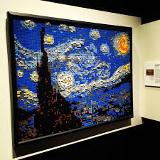vincent van legogh s starry night lego exhibit by nathan saway at secvincent