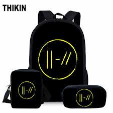 <b>ThiKin Twenty One</b> Pilots School Bag Set for Girls Boys Hip Hop ...