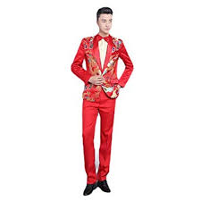AngelSpace <b>Men's</b> Chinese Style Wrinkle Resistant <b>Tuxedo Stage</b> ...