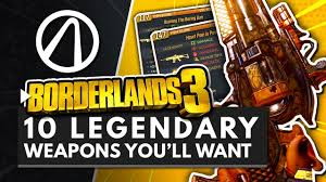 BORDERLANDS 3 | 10 Legendary Weapons You Will Want to Get ...