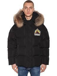 <b>Dsquared2</b> - <b>Куртка</b> на пуху с меховой оторочкой - Чёрный ...
