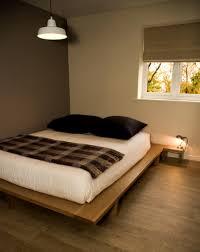 low platform bed modrest opal modern low profile walnut platform
