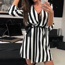 LASPERAL Casual Loose <b>Women's</b> Dress Vestidos Long Sleeve ...