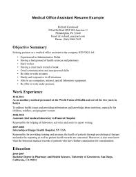 entry level medical assistant resume info entry level medical assistant resume experience resumes