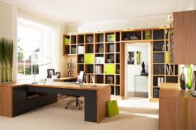 modern home office design with woode cabinets cabinet home office design