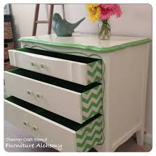 stencil a pop of pattern on the sides of your dresser drawers using our chevron craft chevron painted furniture
