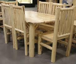 Log Dining Room Tables Log Dining Tables