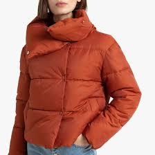 <b>Куртка стеганая</b> короткая с большим воротником красный ...