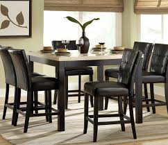 Tall Dining Room Sets Piece Counter Height Dining Room Set W Black Chairs Beyond Stores