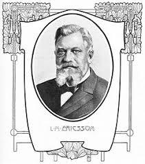 L. M. Ericsson. Förstasida till Hvar 8 dag nr. 34 1906 i samband med Ericssons 60-årsdag