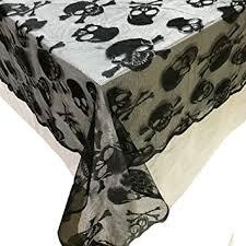 Buy Felice <b>Halloween Lace</b> Table Topper Cover Spooky <b>Skull</b> ...