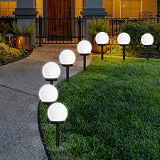 Globe Lights Outdoor Stake 8 Pack FLOWood LED <b>Solar Garden Light</b>