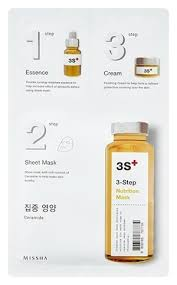 Трехступенчатая <b>маска для лица 3</b> Step Nutrition Mask Missha ...